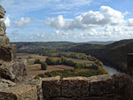 Looking from Castelnaud Castle towards La Roque Gageac