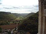 Looking over Castelnaud village, with the campsite in the valley